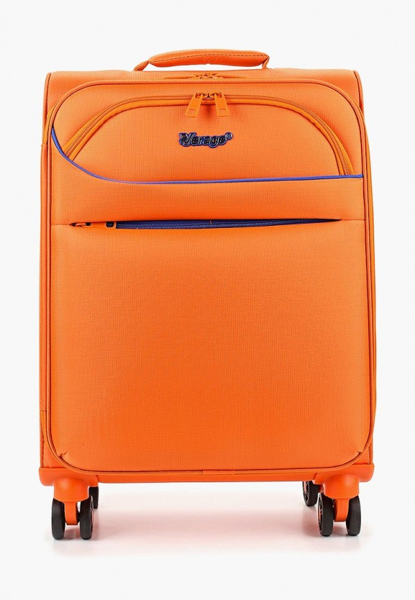 женский чемодан verage, оранжевый
