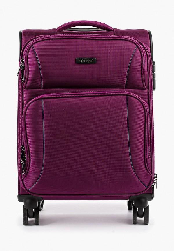 женский чемодан verage, фиолетовый