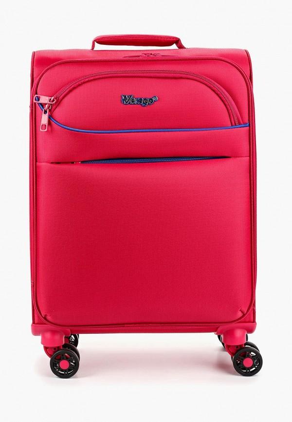 женский чемодан verage, розовый