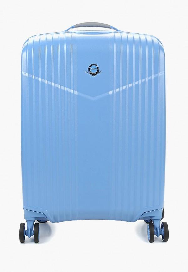 женский чемодан verage, голубой