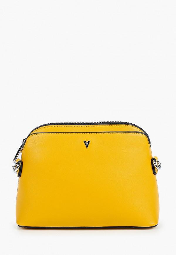 женская сумка ventoro, желтая