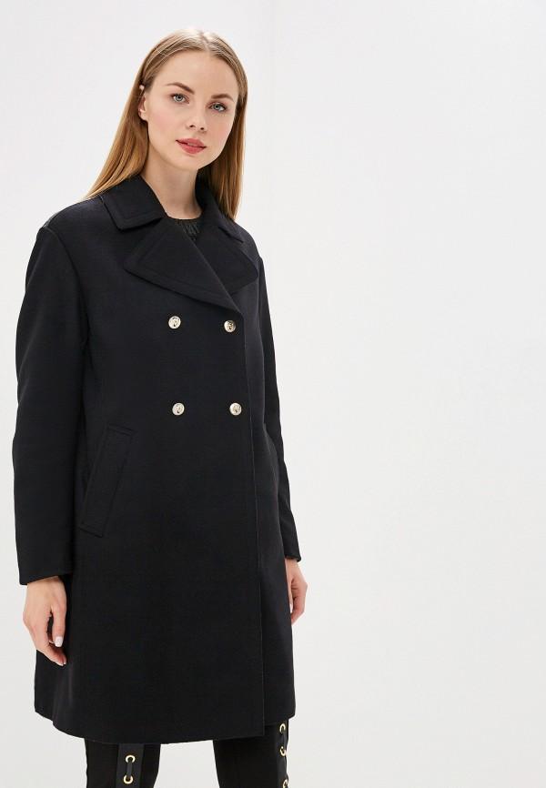 женское пальто versus versace, черное