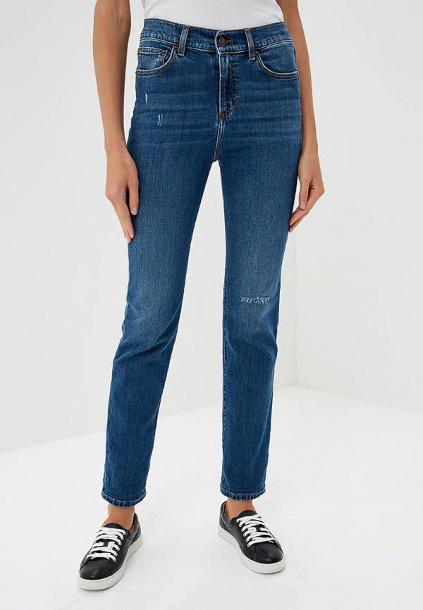 женские прямые джинсы versus versace, синие