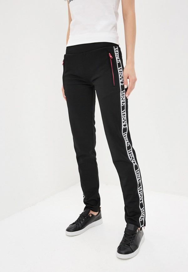женские спортивные спортивные брюки versus versace, черные