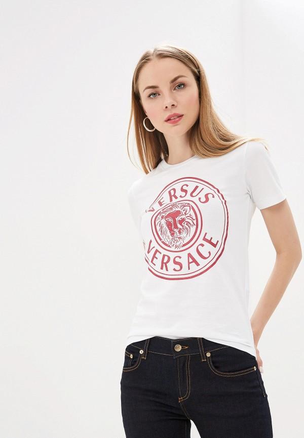женская футболка versus versace, белая