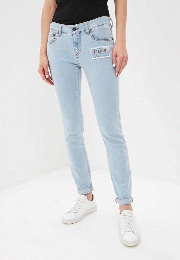 женские джинсы versus versace, голубые