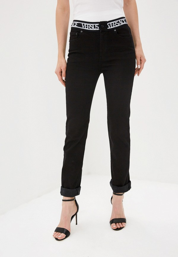 женские джинсы versus versace, черные