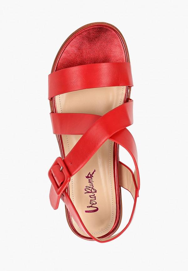 Фото 4 - женские сандали Vera Blum красного цвета
