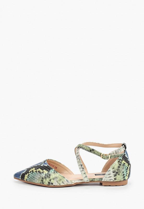 женские туфли vera blum, зеленые