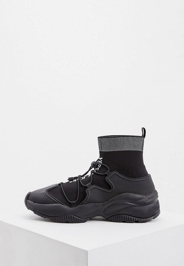 мужские высокие кроссовки versace, черные