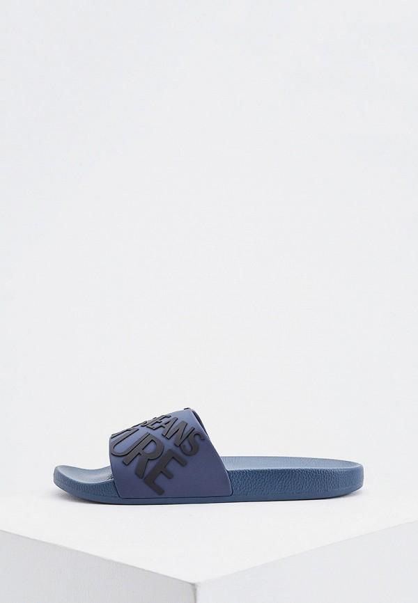 мужские сланцы versace, синие