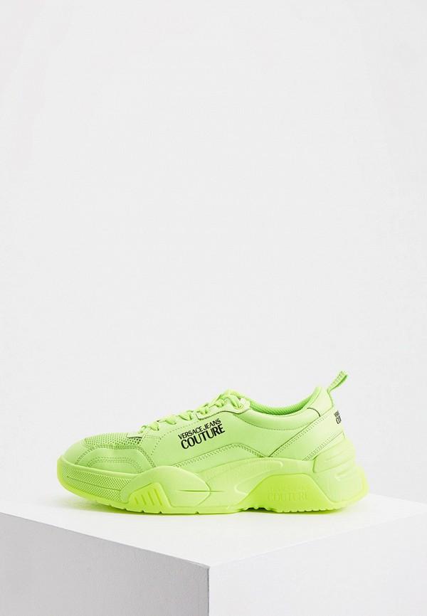 мужские кроссовки versace, зеленые
