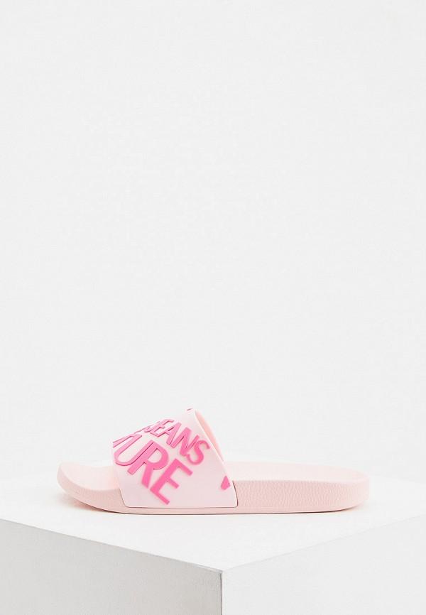 женские сланцы versace, розовые