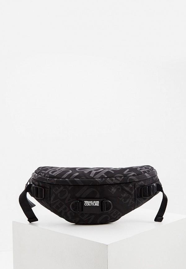 мужская поясные сумка versace, черная
