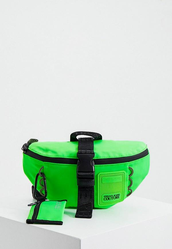 мужская сумка versace, зеленая