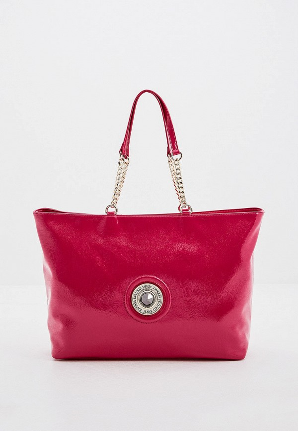 женская сумка-шоперы versace, розовая