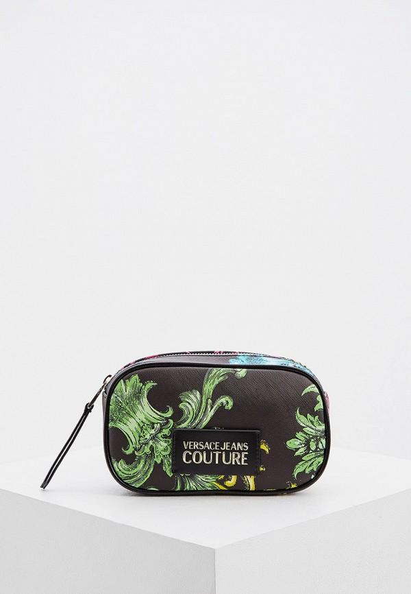женская поясные сумка versace, черная