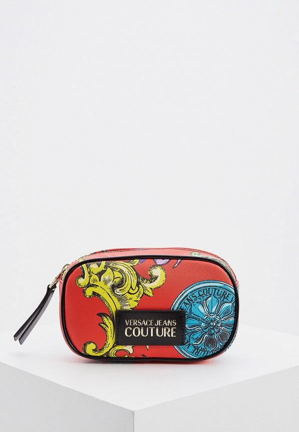 женская поясные сумка versace, красная