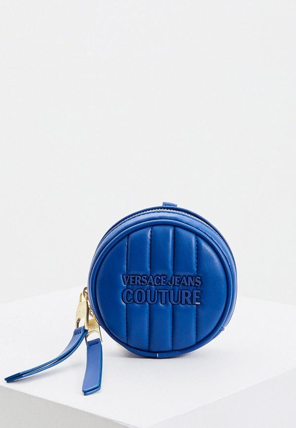 женский кошелёк versace, синий