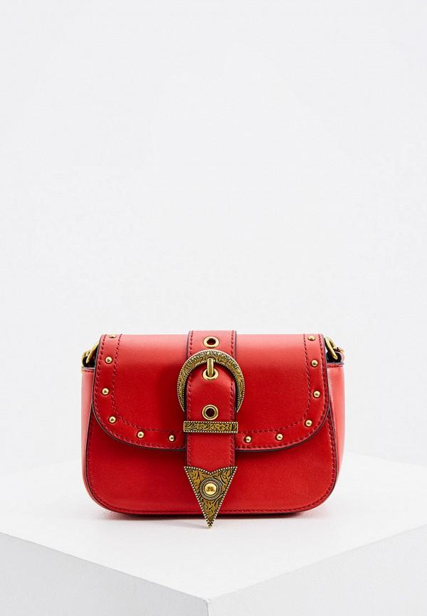 женская сумка versace, красная