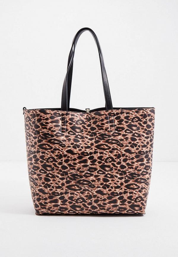 женская сумка versace, коричневая