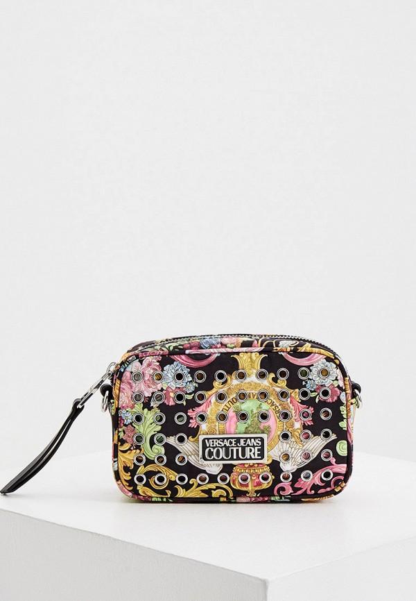 женская сумка через плечо versace, разноцветная