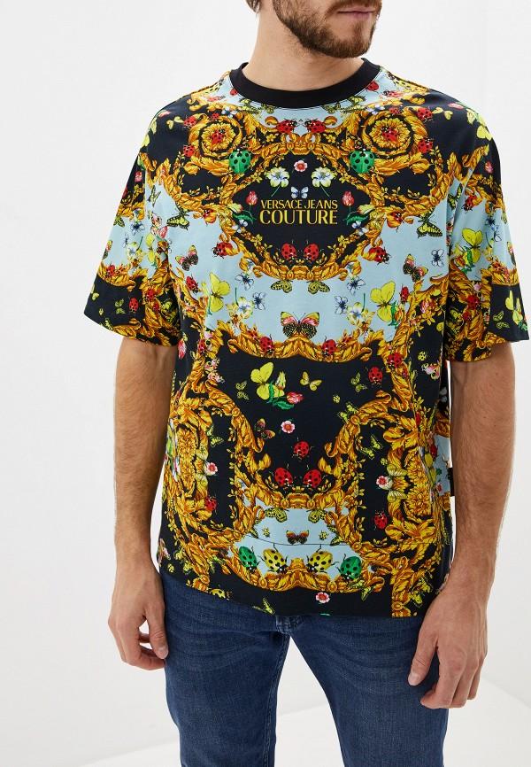 мужская футболка versace, разноцветная