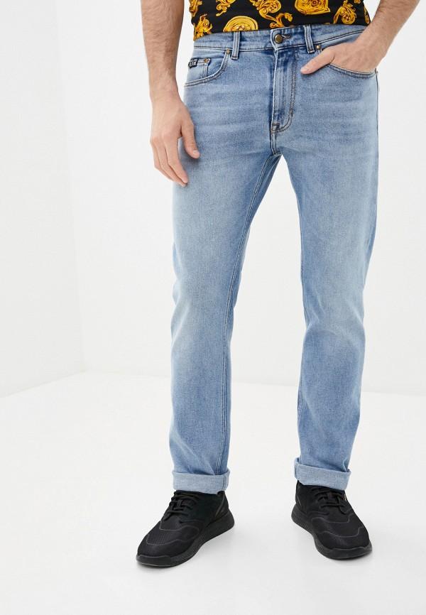 мужские зауженные джинсы versace, голубые