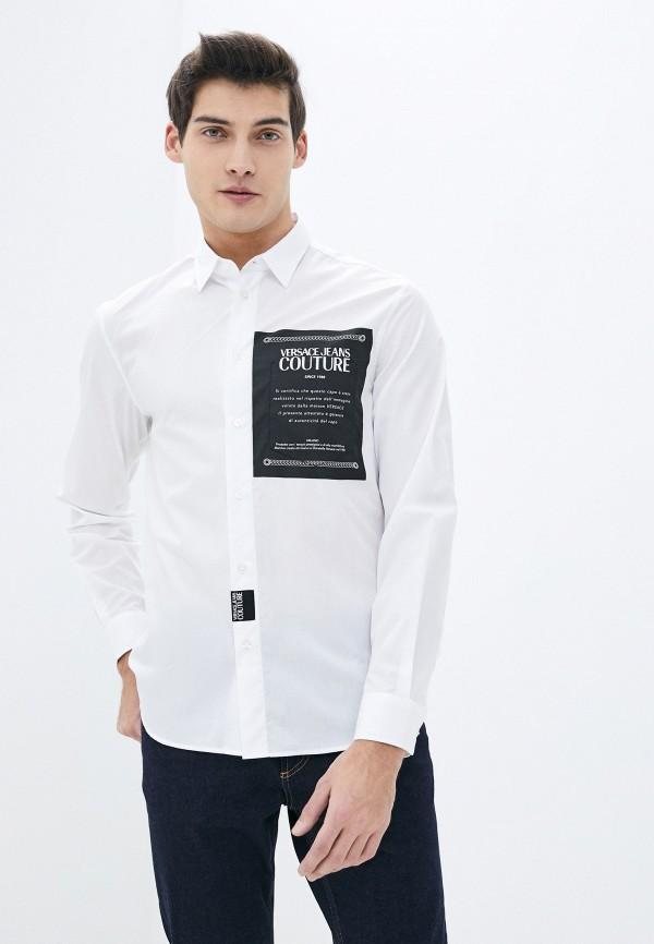 мужская рубашка с длинным рукавом versace, белая