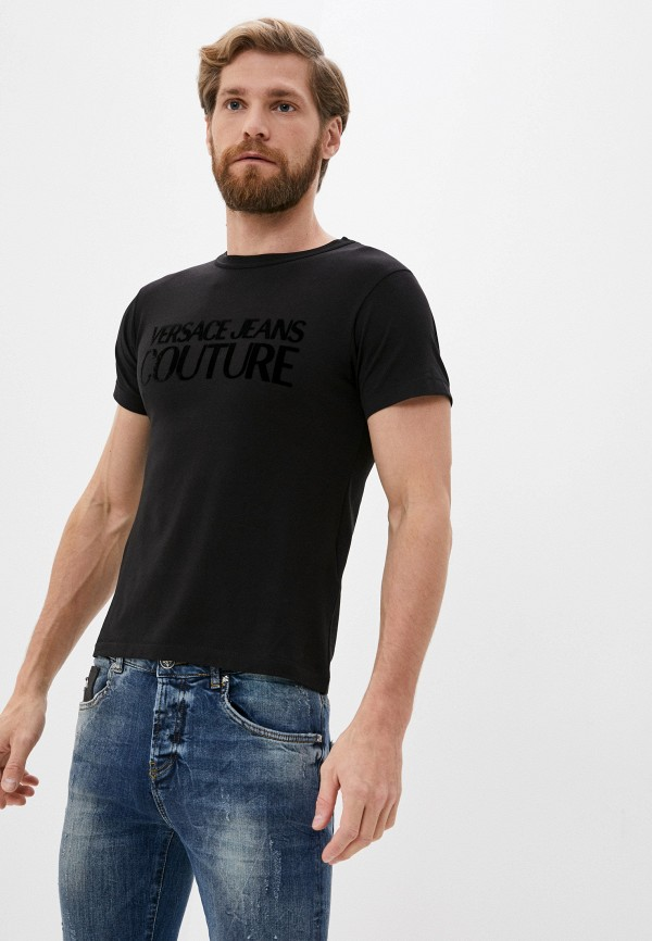 мужская футболка versace, черная