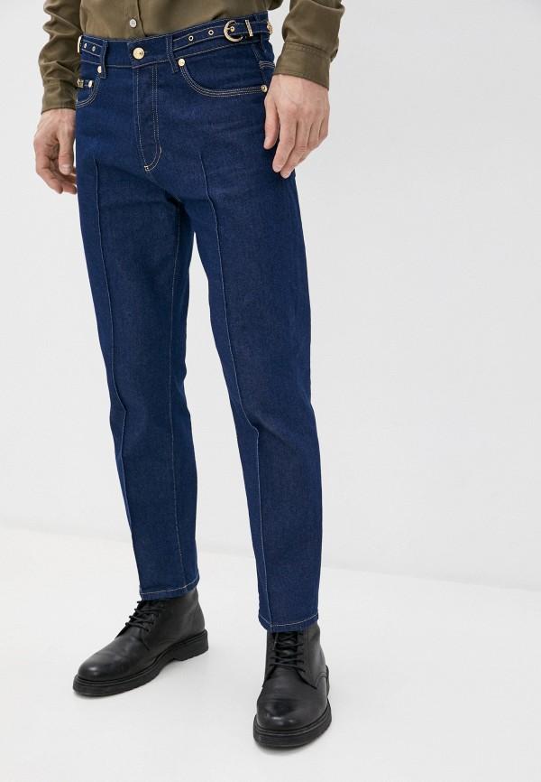 мужские зауженные джинсы versace, синие
