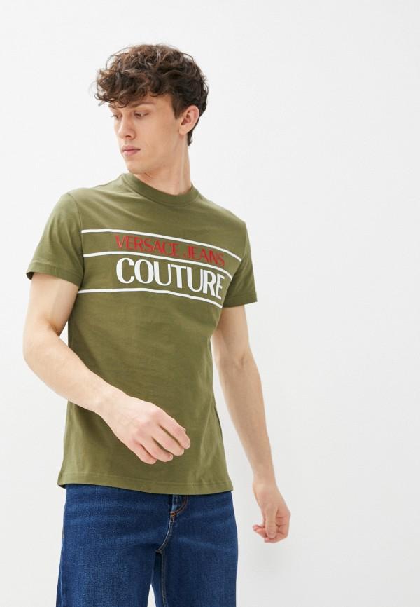 мужская футболка versace, зеленая