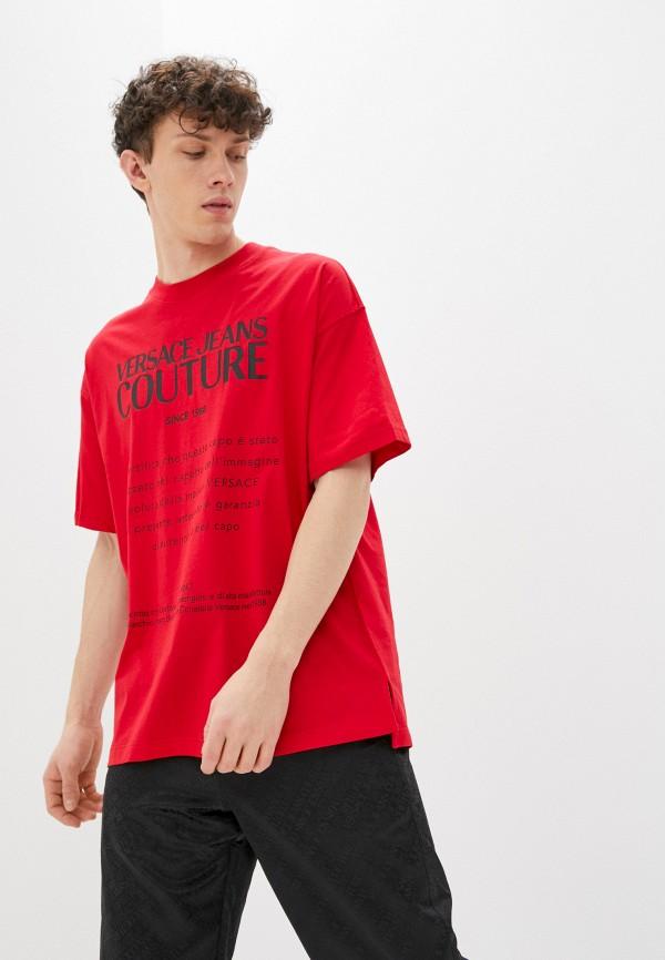 мужская футболка versace, красная