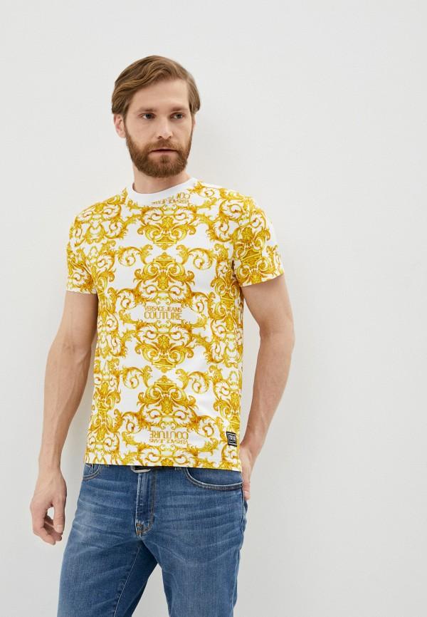 мужская футболка versace, желтая