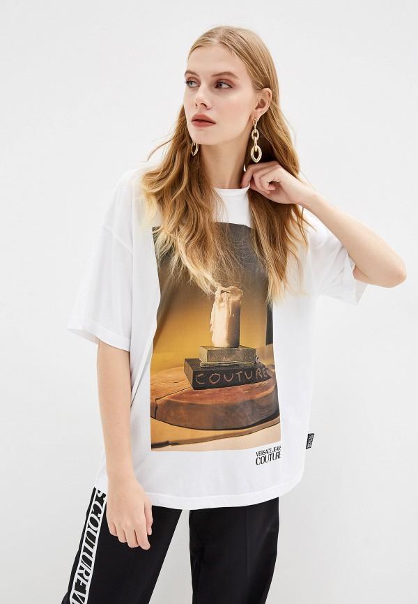 женская футболка versace, белая
