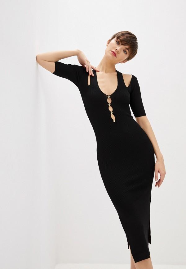 женское вечерние платье versace, черное