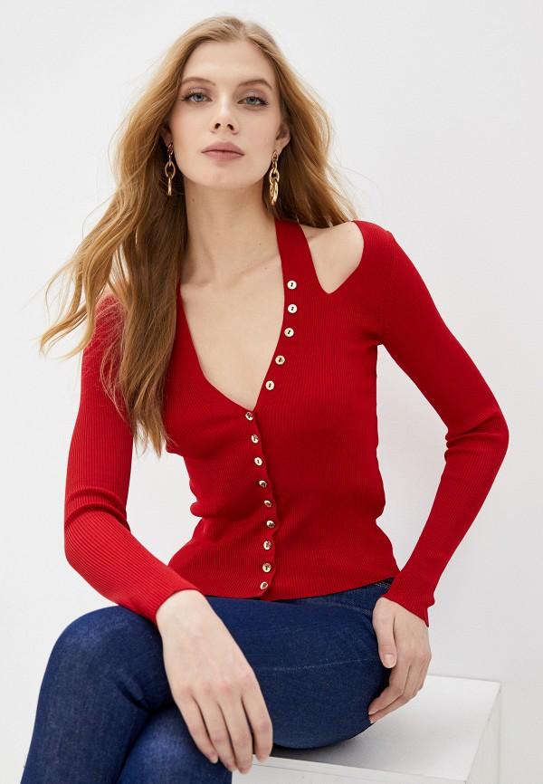 женский кардиган versace, красный