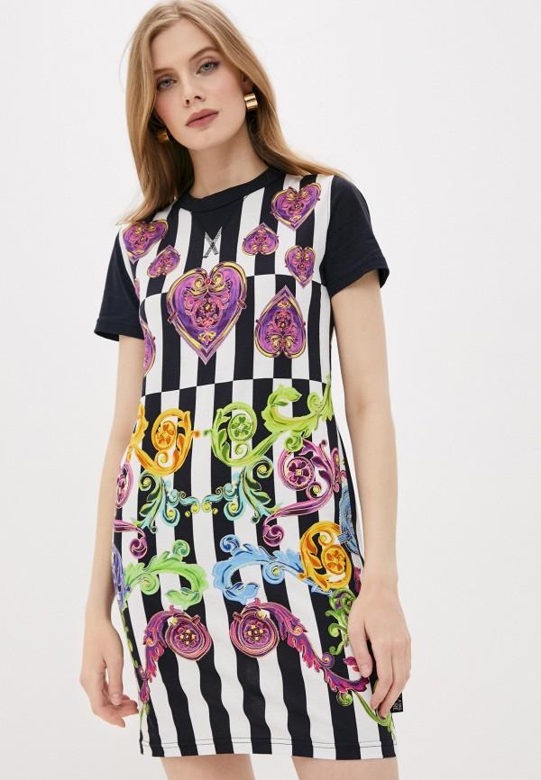 женское повседневные платье versace, разноцветное