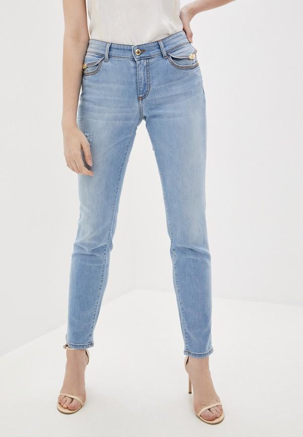 женские джинсы скинни versace, голубые