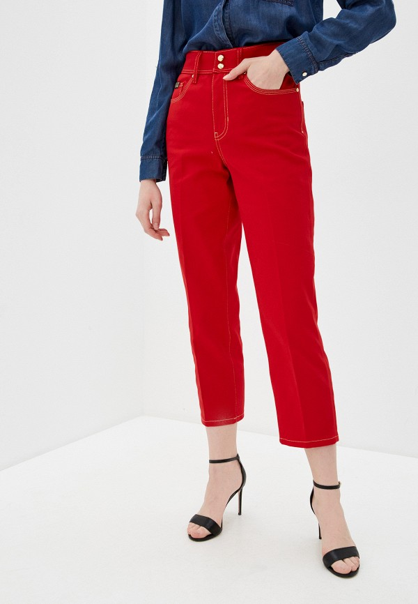женские повседневные брюки versace, красные