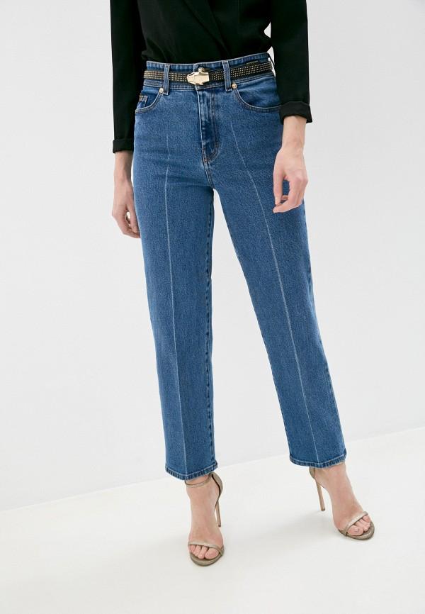 женские прямые джинсы versace, синие