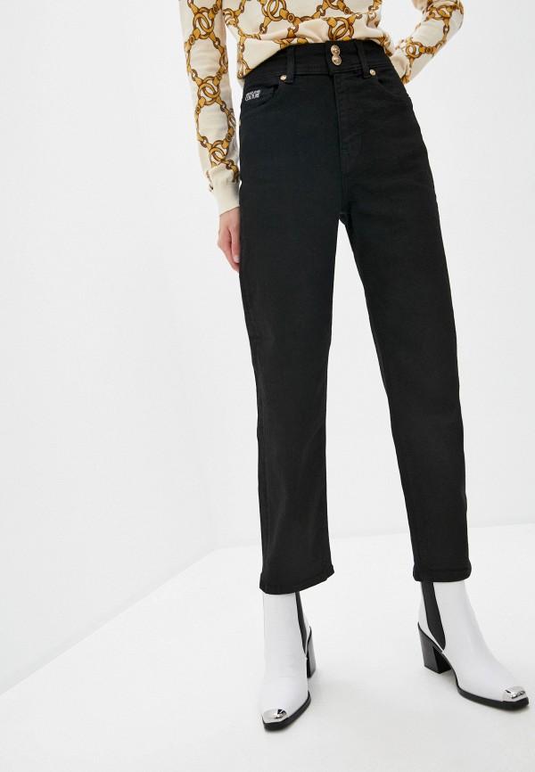 женские прямые джинсы versace, черные