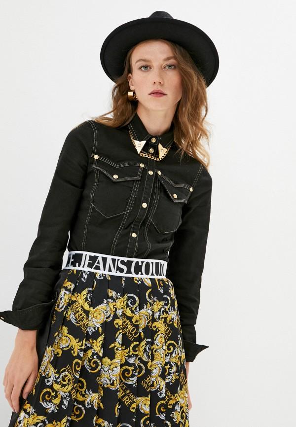 женская джинсовые рубашка versace, черная