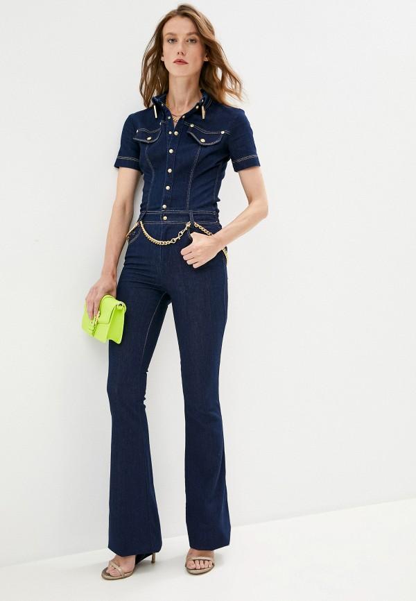 женский джинсовые комбинезон versace, синий