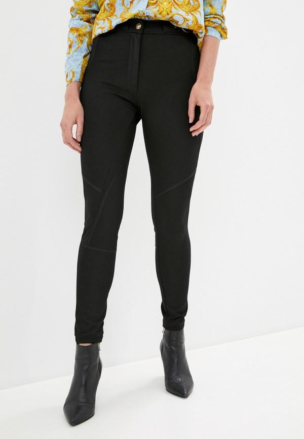 женские повседневные брюки versace, черные