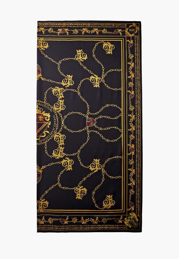 женский платок versace, черный