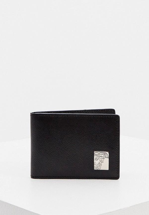 мужской кошелёк versace, черный