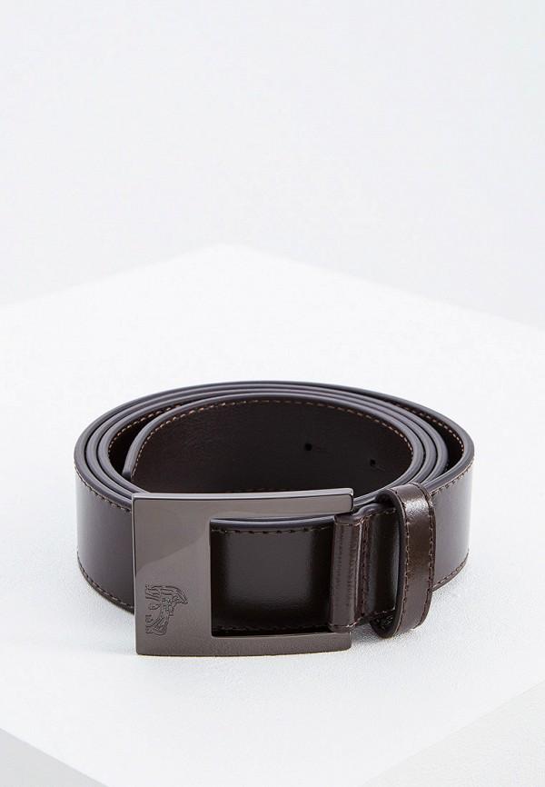 мужской ремень versace, коричневый