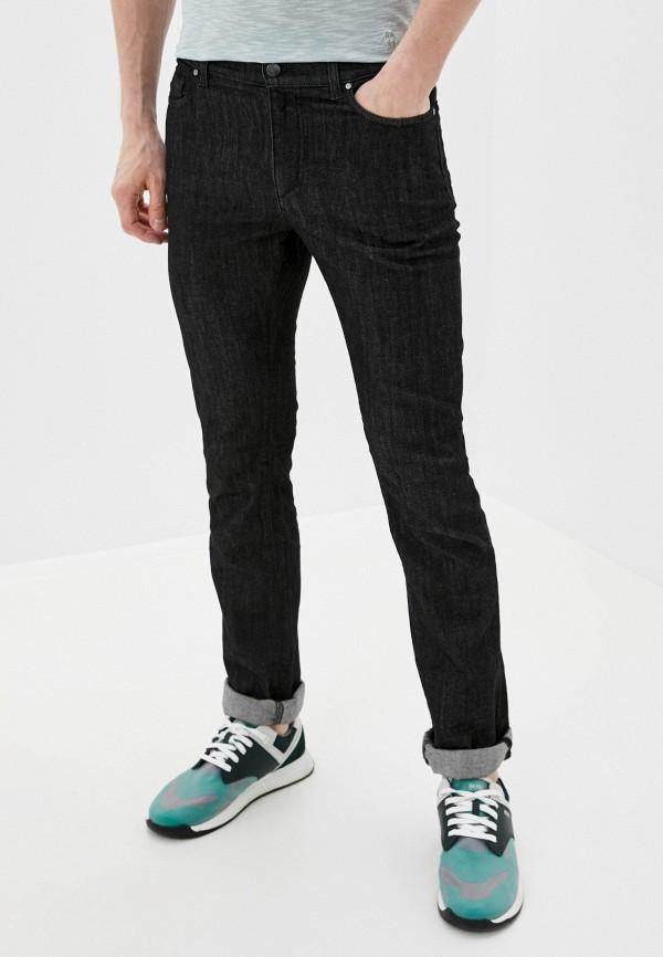 мужские зауженные джинсы versace, черные