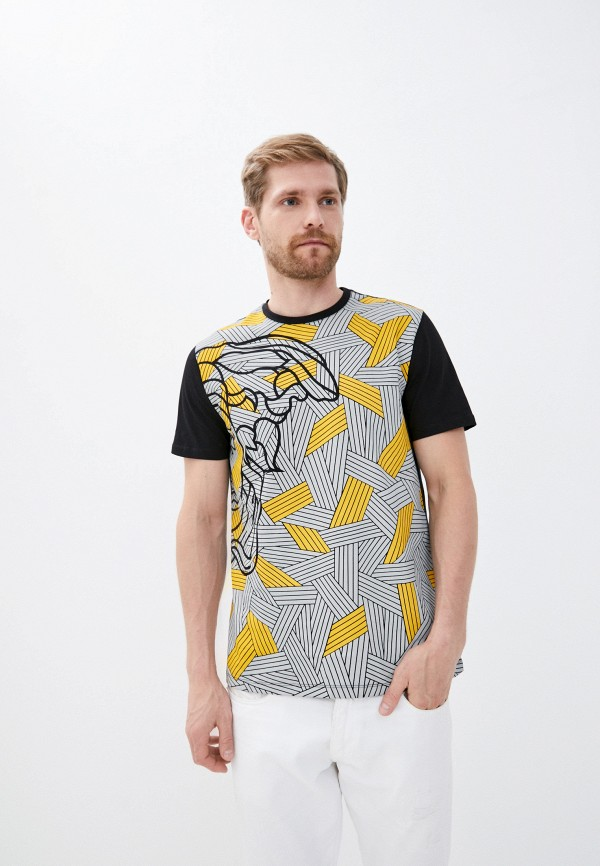 мужская футболка versace, серая